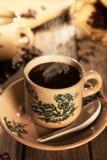 Traditional style Nanyang coffee in vintage mug Royalty Free Stock Photos