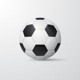 Traditional style soccer ball. Vector illustration. Stock Images