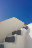 Traditional style stairway of Santorini Royalty Free Stock Images