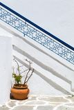 Traditional style stairway of Santorini, Greece Stock Image