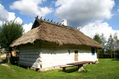 Traditional style village house. In Poland Stock Photos