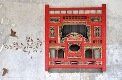 Traditional style window and wall drawing Stock Images
