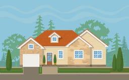 Traditional suburban house Royalty Free Stock Image