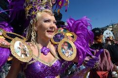 Traditional summer samba carnival in Helsinki on 7-8 June 2013. Royalty Free Stock Photos