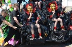 Traditional summer samba carnival in Helsinki on 7-8 June 2013. Royalty Free Stock Photo
