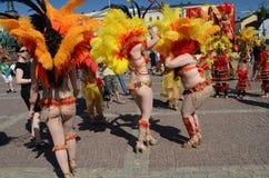 Traditional summer samba carnival in Helsinki on 7-8 June 2013. Stock Image