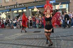 Traditional summer samba carnival in Helsinki on 7-8 June 2013. Stock Images
