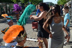 Traditional summer samba carnival in Helsinki on 7-8 June 2013. Stock Photography