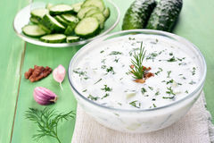 Traditional summer soup Tarator Stock Images