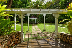 Traditional summerhouse on the tropical island Royalty Free Stock Image