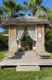 Traditional summerhouse on  tropical resort Royalty Free Stock Image