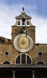 Traditional Sundial Clock in Venice, Italy Stock Images