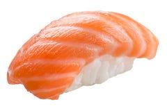 Traditional sushi sashimi on white background Stock Photo