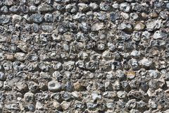 Traditional Sussex Stone Wall Royalty Free Stock Photo