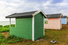 Traditional Swedish cottage house Royalty Free Stock Images