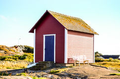 Traditional swedish falun red wooden house Stock Photography