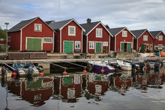 A traditional Swedish Fishing Village on the Baltic Coast Royalty Free Stock Photography