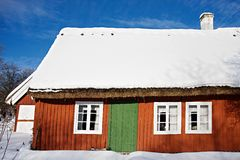 Traditional swedish house in Skansen, Stockholm Stock Image