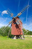Traditional Swedish old windmill Stock Photos