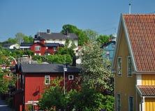 Traditional Swedish village. Stock Images