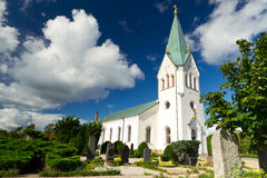 Traditional Swedish white church Stock Photography