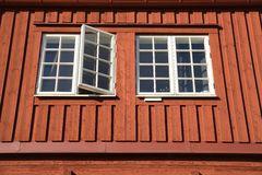 Traditional Swedish wooden facade Royalty Free Stock Images