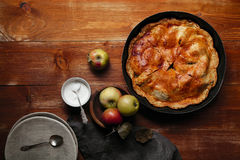 Traditional autumn pies Stock Image