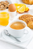 Traditional sweet breakfast and espresso Stock Photography