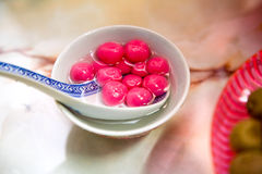 Traditional sweet chinese glutinous rice ball Stock Photography