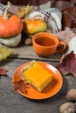 Traditional sweet homemade pumpkin pie Stock Image