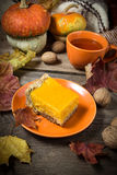 Traditional sweet homemade pumpkin pie Stock Photography