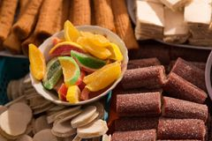 Traditional sweets at Corpus Christi celebration in Ecuador Royalty Free Stock Image