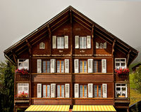 Traditional Swiss Chalet Royalty Free Stock Photo