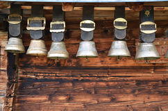 Traditional Swiss cowbells Royalty Free Stock Image