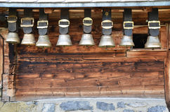 Traditional Swiss cowbells Royalty Free Stock Images