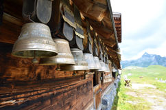 Traditional Swiss cowbells Stock Photos