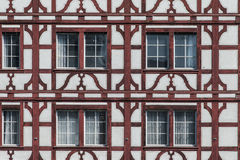 Traditional swiss house wall Royalty Free Stock Photo