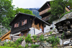 Traditional swiss mountain house Royalty Free Stock Photos