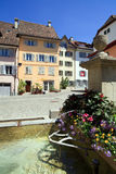 Traditional Swiss Village Square Royalty Free Stock Photography