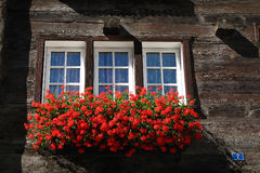 Swiss window Royalty Free Stock Image