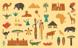 Traditional symbols of Africa Stock Photos