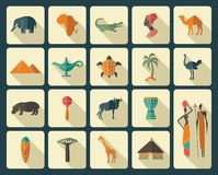 Traditional symbols of Africa Stock Photography
