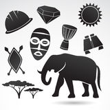 Traditional symbols of Africa. Stock Photography