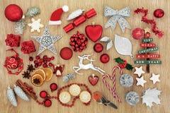 Traditional Symbols of Christmas Stock Photo
