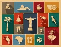 Brazilian icons. Vector illustration Royalty Free Stock Photos