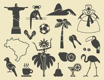 Brazilian icons. Vector illustration Stock Photo