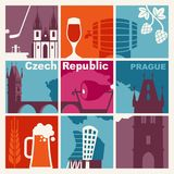 Traditional symbols of the Czech Republic Stock Images