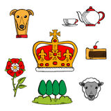 Traditional symbols of Great Britain royalty free illustration