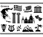 Traditional symbols of Greece. Royalty Free Stock Image