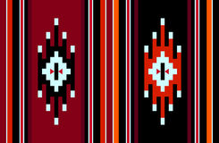 Traditional Symbols Handmade Vintage Weaving Rug Pattern. A Red And Black Traditional Symbols Handmade Vintage Weaving Rug Pattern Royalty Free Stock Images